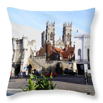 York Bootham Barr Throw Pillow by Neil Finnemore