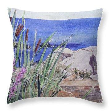 York Maine Throw Pillow by Carol Flagg