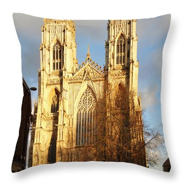 York Minster Throw Pillow by Neil Finnemore
