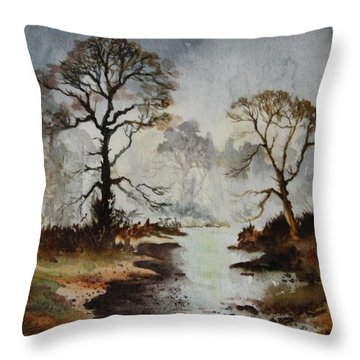 Yorkshire Dales Throw Pillow by Jean Walker