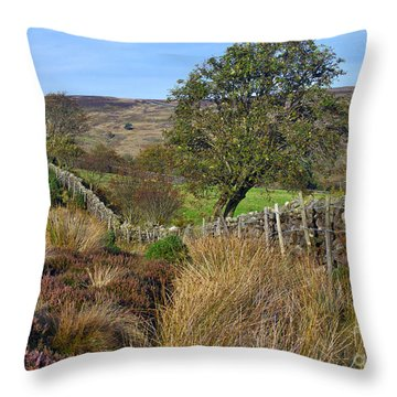 Yorkshire Moors England Throw Pillow