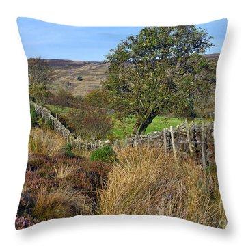 Yorkshire Moors England Throw Pillow