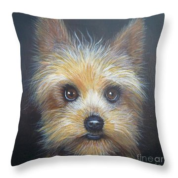Yorkshire Terrier By Monika Throw Pillow