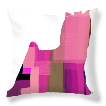 Yorkshire Terrier Throw Pillow by Naxart Studio