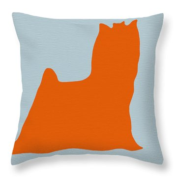 Yorkshire Terrier Orange Throw Pillow by Naxart Studio