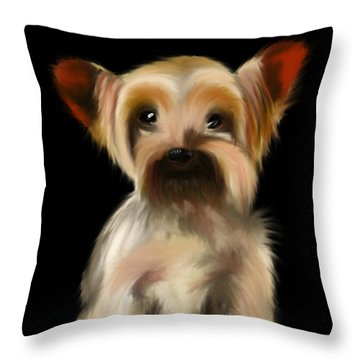 Yorkshire Terrier Pup Throw Pillow
