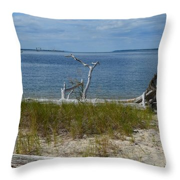 Yorktown Va Beach Throw Pillow