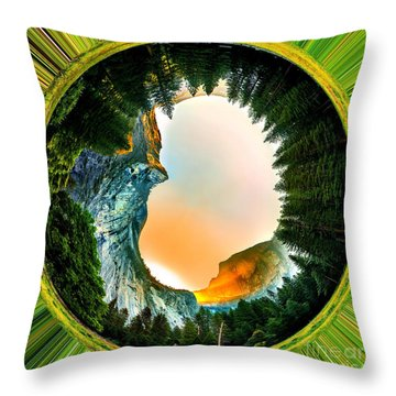 Yosemite Circagraph Throw Pillow