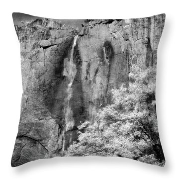 Throw Pillow featuring the photograph Yosemite Falls by Mark Greenberg