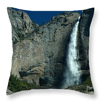 Throw Pillow featuring the photograph Yosemite Falls by Nick  Boren