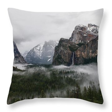 Yosemite Throw Pillow by Jay Seeley