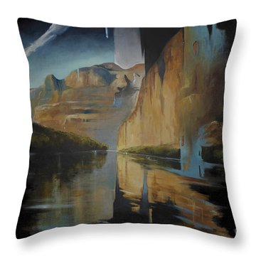Yosemite Throw Pillow by Lin Petershagen
