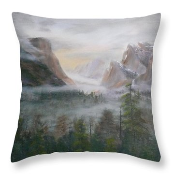 Yosemite Mist Throw Pillow