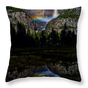 Yosemite Moonbow Throw Pillow