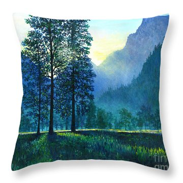 Yosemite Morning  Throw Pillow by Lou Ann Bagnall