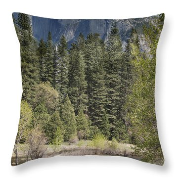 Yosemite National Park. Half Dome Throw Pillow