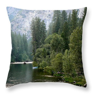 Throw Pillow featuring the photograph Yosemite National Park by Laurel Powell