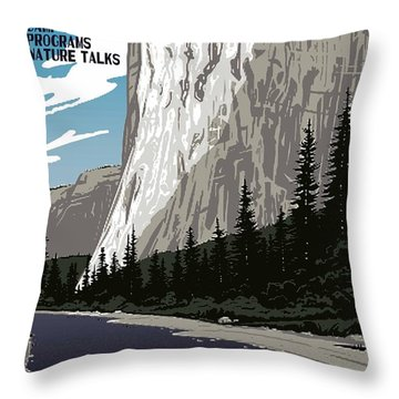 Yosemite National Park Vintage Poster 2 Throw Pillow by Eric Glaser