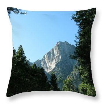 Yosemite Park Throw Pillow by Mini Arora