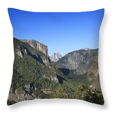 Yosemite Scenic Throw Pillow by Charmian Vistaunet
