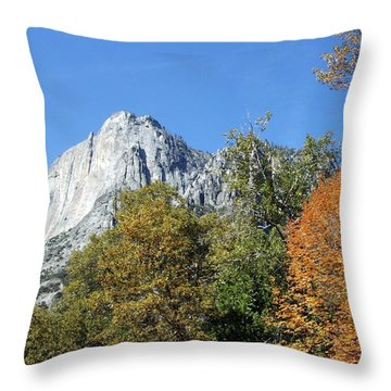 Yosemite Trees Throw Pillow by Richard Reeve
