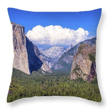 Yosemite Valley Beauty Throw Pillow