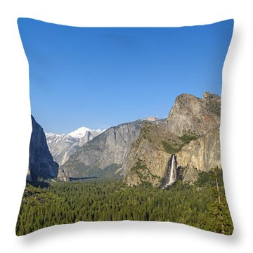 Throw Pillow featuring the photograph Yosemite Valley Moonrise by Steven Sparks