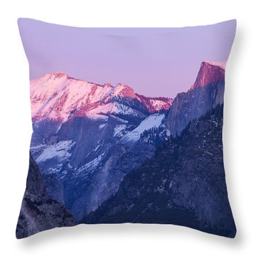Yosemite Valley Panorama Throw Pillow