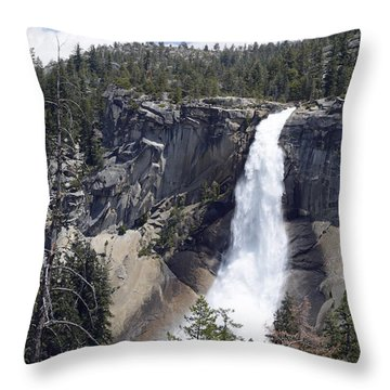 Yosemite's Nevada Fall Throw Pillow by Bruce Gourley