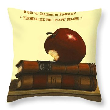 You Add Personalized Text On Plate  # 6 1 Throw Pillow