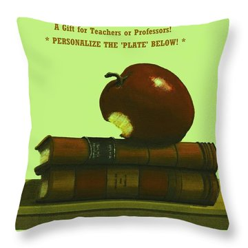 You Add Personalized Text On Plate  # 6 3 Throw Pillow