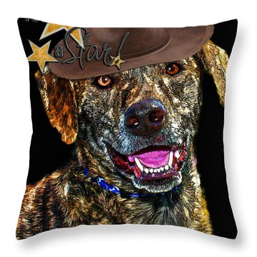 Throw Pillow featuring the digital art You Are A Star by Kathy Tarochione
