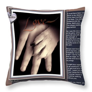 You Are My Hero Throw Pillow