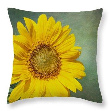 You Are My Sunshine Throw Pillow by Kim Hojnacki