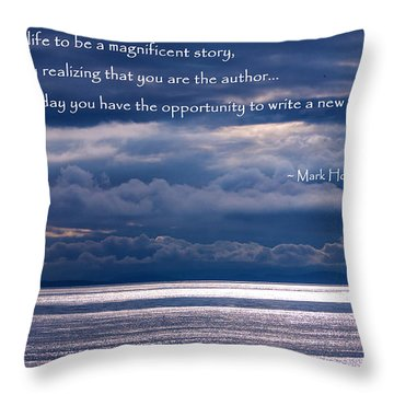 Throw Pillow featuring the photograph You Are The Author by Jordan Blackstone