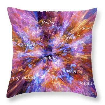 Throw Pillow featuring the digital art You Are The Lord by Margie Chapman