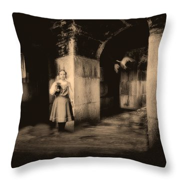 You Ask The Question Maybe I Will Give The Answer Throw Pillow by Bob Orsillo
