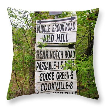 Throw Pillow featuring the photograph You Can Get There From Here by Sherman Perry
