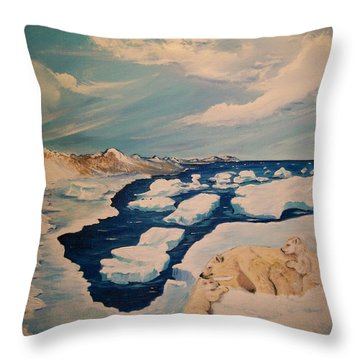 Throw Pillow featuring the painting You Can Make It by Sharon Duguay