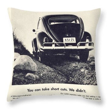 You Can Take Short Cuts. We Didn't Throw Pillow by Georgia Fowler