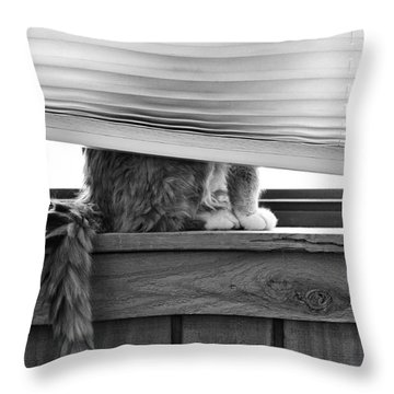 You Can't See Me Throw Pillow by Karen Slagle
