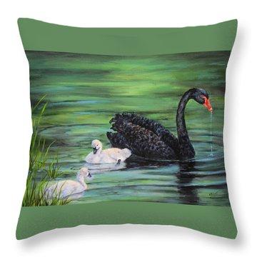 You Comin'--black Swan Throw Pillow