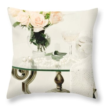 You Don't Bring Me Flowers Throw Pillow