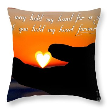 You Hold My Heart Forever By Diana Sainz Throw Pillow
