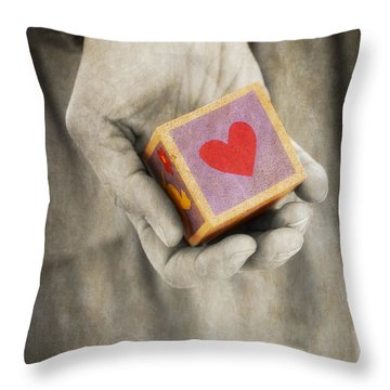 You Hold My Heart In Your Hand Throw Pillow by Edward Fielding