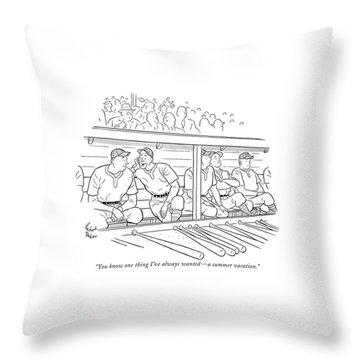 Dugouts Throw Pillows