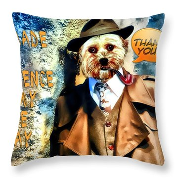 Throw Pillow featuring the digital art You Made A Difference by Kathy Tarochione