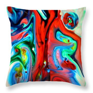 Throw Pillow featuring the painting You Make Me Feel Like Dancing by Joyce Dickens
