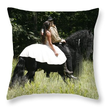 You May Kiss The Bride Throw Pillow