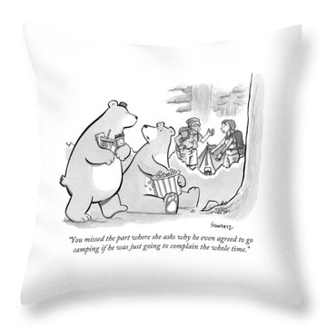 You Missed The Part Where She Asks Why He Even Throw Pillow